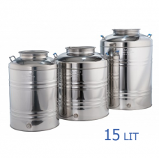 Ανοξείδωτο δοχείο με βιδωτό καπάκι χωρητικότητας 15L - DO.PR.15