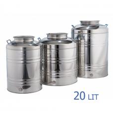 Ανοξείδωτο δοχείο με βιδωτό καπάκι χωρητικότητας 20L - DO.PR.20