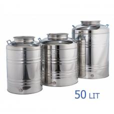 Ανοξείδωτο δοχείο με βιδωτό καπάκι χωρητικότητας 50L - DO.PR.50