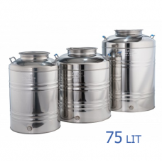 Ανοξείδωτο δοχείο με βιδωτό καπάκι χωρητικότητας 75L - DO.PR.75