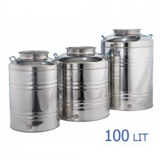 Ανοξείδωτο δοχείο με βιδωτό καπάκι χωρητικότητας 100L - DO.PR.100