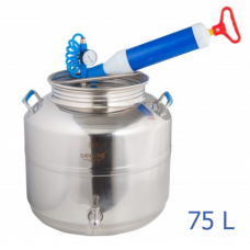 Ανοξείδωτο δοχείο με βιδωτό καπάκι χωρητικότητας 75L με βαλβίδα απαγωγής αέρα - DO.KOL.A.75