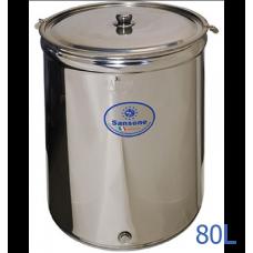 Ανοξείδωτο δοχείο ανοικτού τύπου χωρητικότητας 80L - DO.AN.PR.80