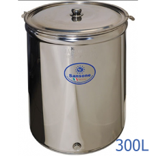 Ανοξείδωτο δοχείο ανοικτού τύπου χωρητικότητας 300L - DO.AN.PR.300