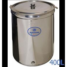 Ανοξείδωτο δοχείο ανοικτού τύπου χωρητικότητας 400L - DO.AN.PR.400