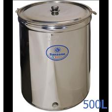 Ανοξείδωτο δοχείο ανοικτού τύπου χωρητικότητας 500L - DO.AN.PR.500