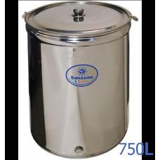 Ανοξείδωτο δοχείο ανοικτού τύπου χωρητικότητας 750L - DO.AN.PR.750
