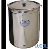 Ανοξείδωτο δοχείο ανοικτού τύπου χωρητικότητας 1000L - DO.AN.PR.1000