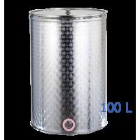 Ανοξείδωτο δοχείο κολλητό ανοικτού  τύπου σφυρήλατο φινίρισμα χωρητικότητας 100L - DO.AN.KO.100