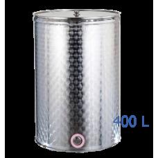 Ανοξείδωτο δοχείο κολλητό ανοικτού  τύπου σφυρήλατο φινίρισμα χωρητικότητας 400L - DO.AN.KO.400