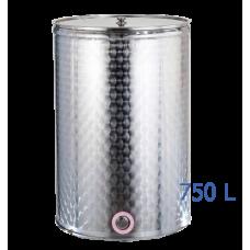 Ανοξείδωτο δοχείο κολλητό ανοικτού  τύπου σφυρήλατο φινίρισμα χωρητικότητας 750L - DO.AN.KO.750