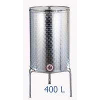 Ανοξείδωτο δοχείο κολλητό κωνικού πυθμένα  ανοικτού  τύπου σφυρήλατο φινίρισμα 400L - DO.AN.KON.400