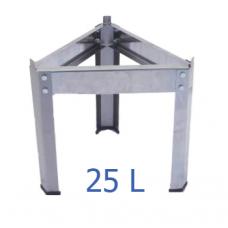 Βάση δοχείου από ανοξείδωτο για 25 L – VA.M.25