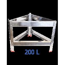 Βάση δοχείου από ανοξείδωτο για 200 L – VA.M.200