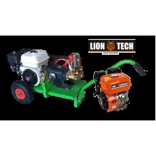 Βενζινοκίνητο ψεκαστικό συγκρότημα σε απλή  βάση με ρόδες 300 - κινητήρα LION TECH 6.5HP - αντλία TF40