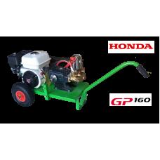 Βενζινοκίνητο ψεκαστικό συγκρότημα σε απλή  βάση με ρόδες 300 - κινητήρα HONDA GP160 - αντλία TF40