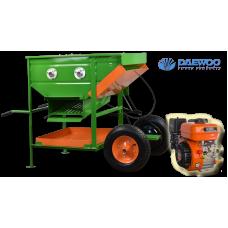 Ελαιοραβδιστικό μηχάνημα 2 κυλίνδρων εδάφους με κοσκίνα και κινητήρα DAEWOO 6.5 HP