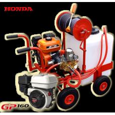 Βενζινοκίνητο ψεκαστικό συγκρότημα με βυτίο 100L  με 4 ρόδες 300-4 PU κινητήρα HONDA GP160 5.5 HP