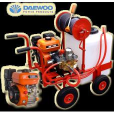 Βενζινοκίνητο ψεκαστικό συγκρότημα με βυτίο 100L  με 4 ρόδες 300-4 PU κινητήρα DAEWOO 6.5 HP