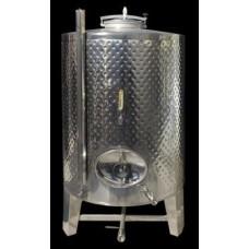 Δεξαμενή INOX Αλκοολικής ζύμωσης και σταθεροποίησης με FULL μανδύα 2ΤΝ